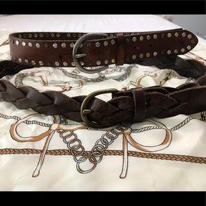 2 Brown Abercrombie belts